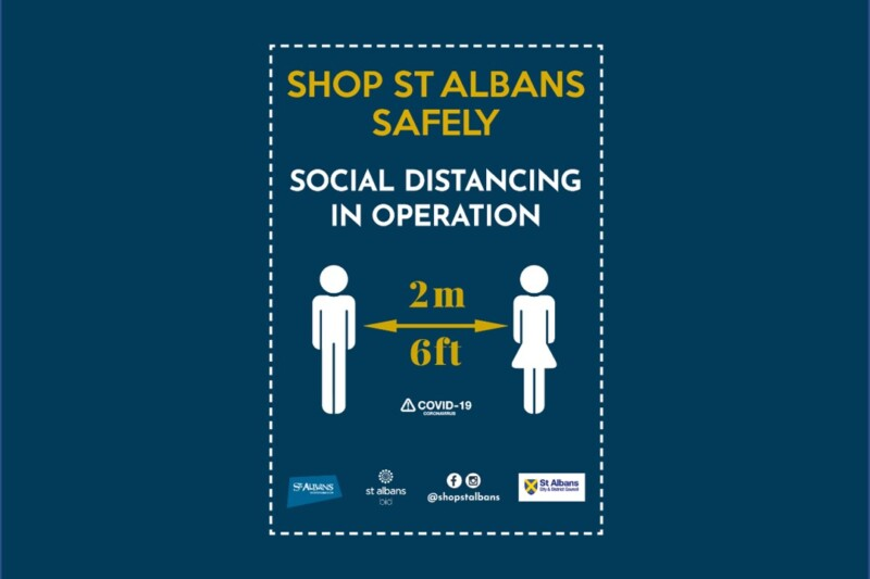 Social Distancing Poster For Shops